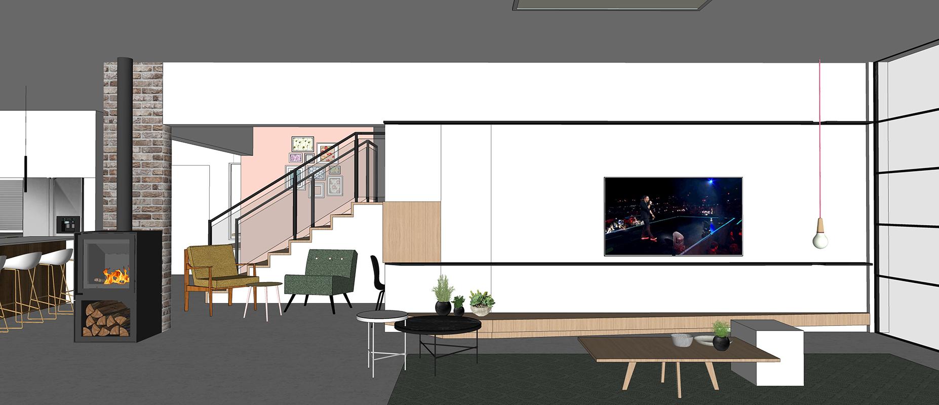 מבט לקיר טלויזיה